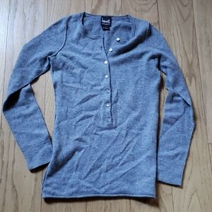 Henri cashmere half button